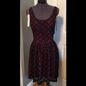 3/$70 NWT Amanda Uprichard Pink &  Black Dress - L